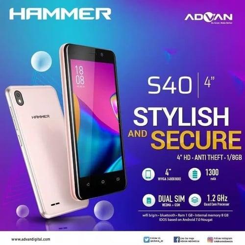 ADVAN S40 RAM 1GB/8GB - Hitam