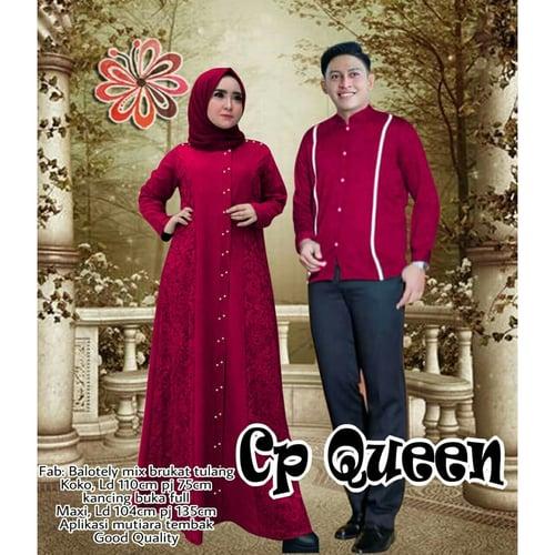 Terlaris Couple Queen Jumbo Couple Gamis Muslimah Big Size Model Casual Terkini