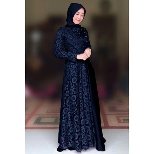 Terlaris Gamis Carissa Maxi Dress Syari Muslimah Model Casual Terkini