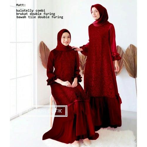 Terlaris Gamis Salandra Maxi Dress Syari Muslimah Model Casual Terkini