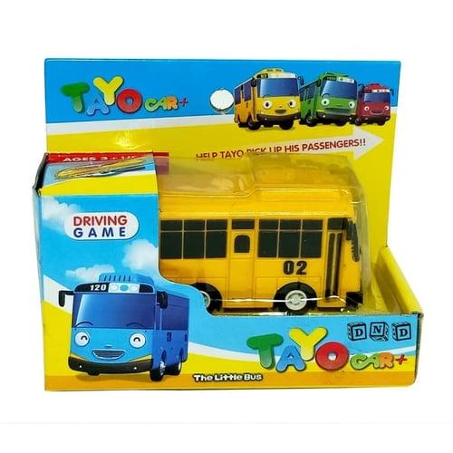 Mainan Anak - Mobil Mobilan Pull Back Tayo Little Bus Lani Kuning 02