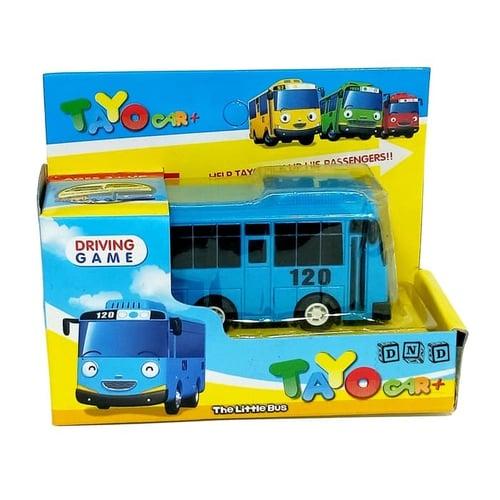 Mainan Anak - Mobil Mobilan Pull Back Tayo Little Bus Bis Biru 120