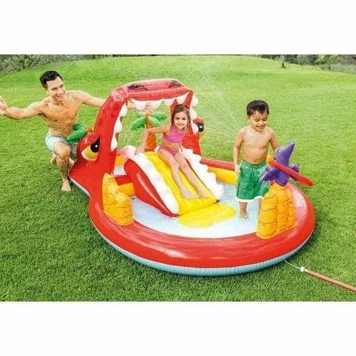 Mainan Anak Kolam Renang Perosotan INTEX Happy Dino Play Center 57160