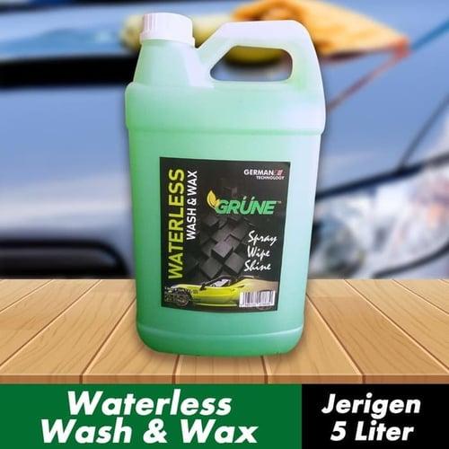 GRUNE - Waterless Wash & Wax / Shampo Mobil & Wax Tanpa Air - 5 Liter