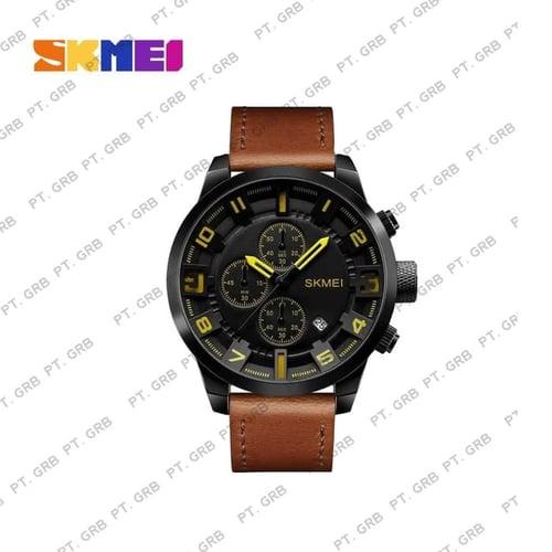 Jam Tangan Pria Analog SKMEI 1309 Yellow Water Resistant 50M