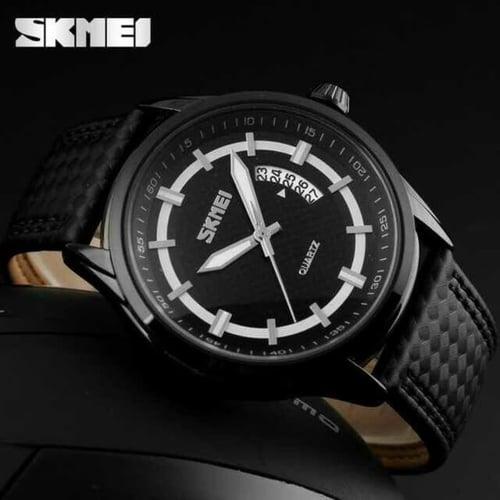 Jam Tangan Pria Analog SKMEI 9116 Black Water Resistant 50M