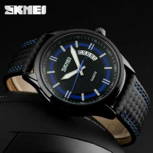 Jam Tangan Pria Analog SKMEI 9116 Blue Water Resistant 50M