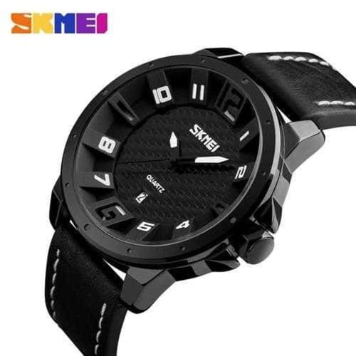 Jam Tangan Pria Analog SKMEI 9150 Bk Black Water Resistant 30M