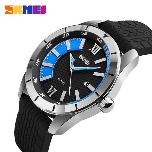 Jam Tangan Pria Analog SKMEI 9151 Blue Water Resistant 30M