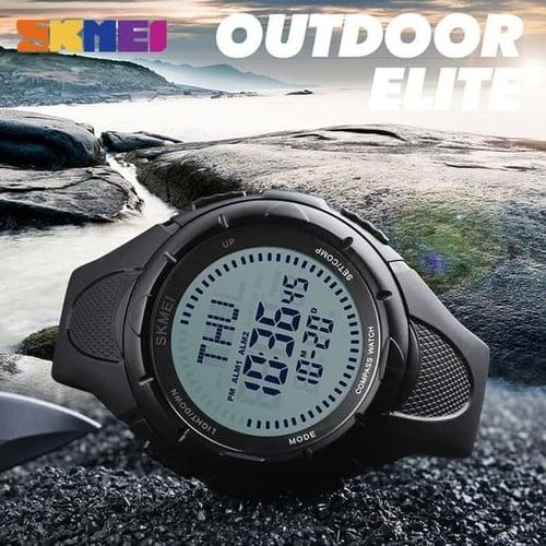 Jam Tangan Pria Compass SKMEI 1232 Black Water Resistant 50M
