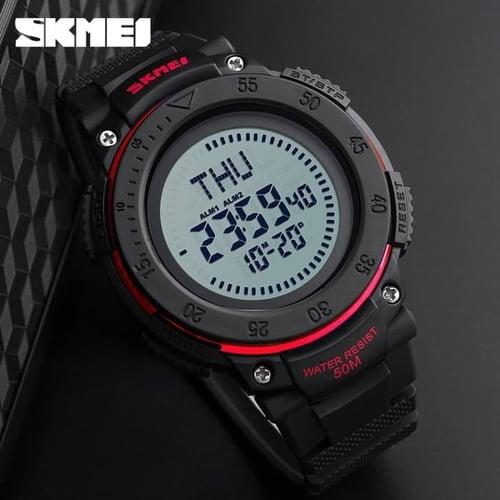 Jam Tangan Pria Compass SKMEI 1236 Red Water Resistant 50M