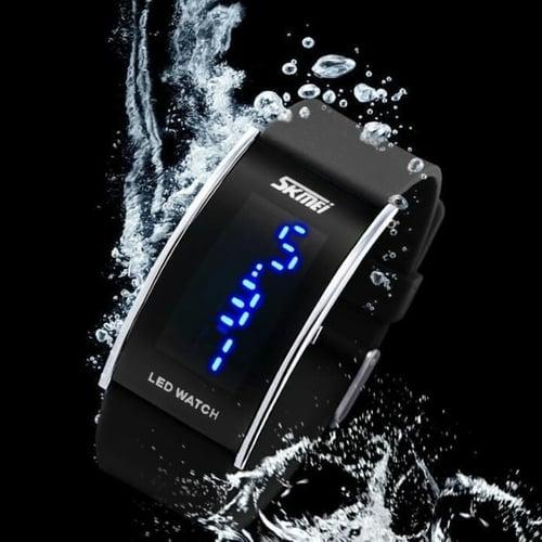Jam Tangan Pria Digital SKMEI 0805 BLACK Water Resistant 30m