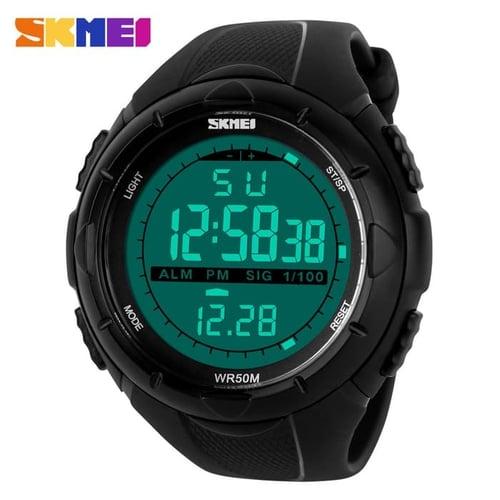 Jam Tangan Pria Digital SKMEI 1025 Black Water Resistant 50M