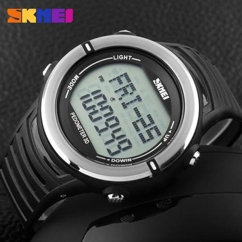 Jam Tangan Pria Digital SKMEI 1111 Black Water Resistant 50M
