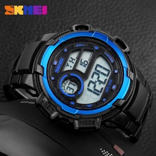 Jam Tangan Pria Digital SKMEI 1113 Black Blue Water Resistant 50M