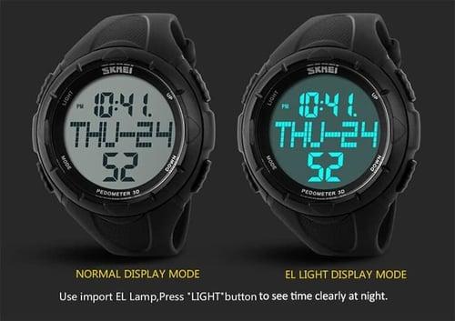 Jam Tangan Pria Digital SKMEI 1122 Black Water Resistant