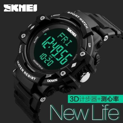 Jam Tangan Pria Digital SKMEI 1180 Black Water Resistant 50M