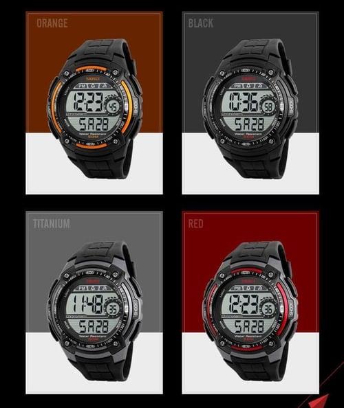 Jam Tangan Pria Digital SKMEI 1203 Black Water Resistant 50M