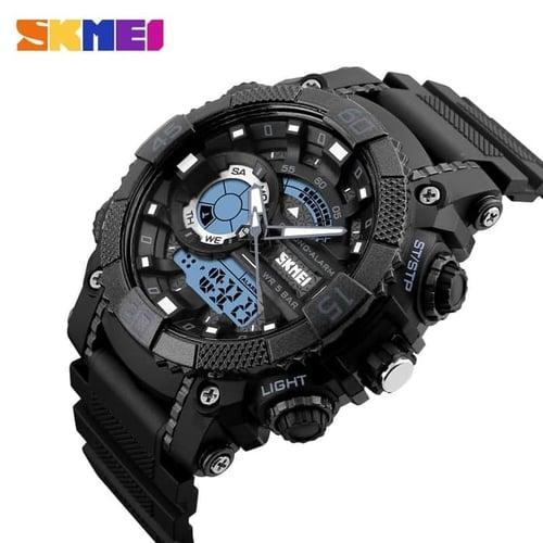 Jam Tangan Pria Digital SKMEI 1228 BLACK Water Resistant 50m
