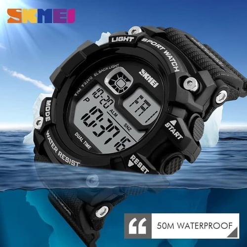 Jam Tangan Pria Digital SKMEI 1229 Black Water Resistant 50M