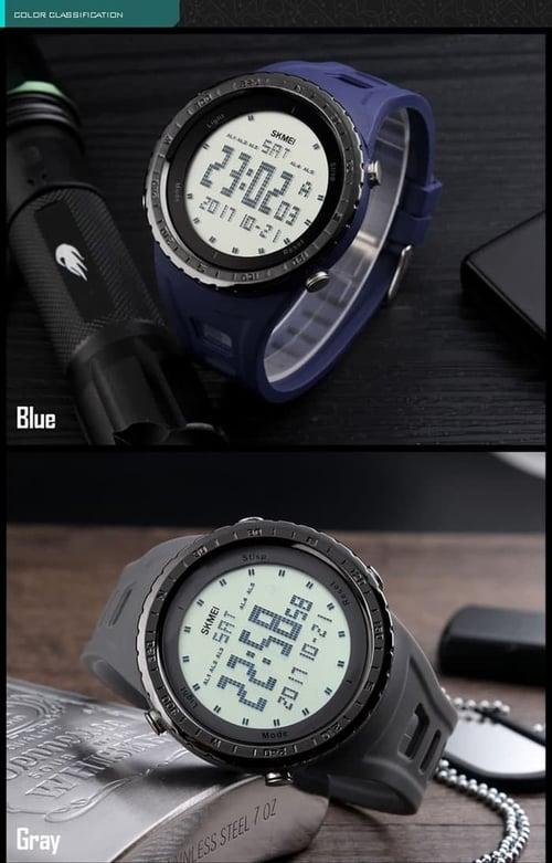 Jam Tangan Pria Digital SKMEI 1246 Black Water Resistant 50M