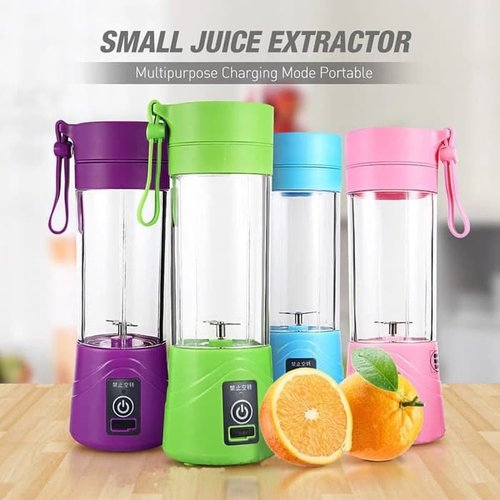 blender Juice cup mini portable Alat pembuat jus USB blender juicer - Merah Muda