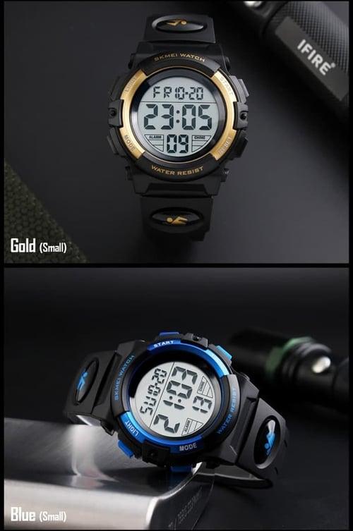 Jam Tangan Pria Digital SKMEI 1258 Blue Water Resistant 50M