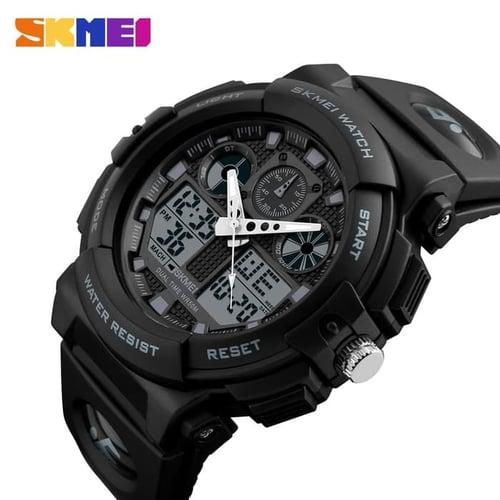 Jam Tangan Pria Digital SKMEI 1270 Black Water Resistant 50m