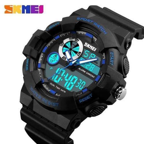 Jam Tangan Pria Digital SKMEI 1312 Black Blue Water Resistant 50M