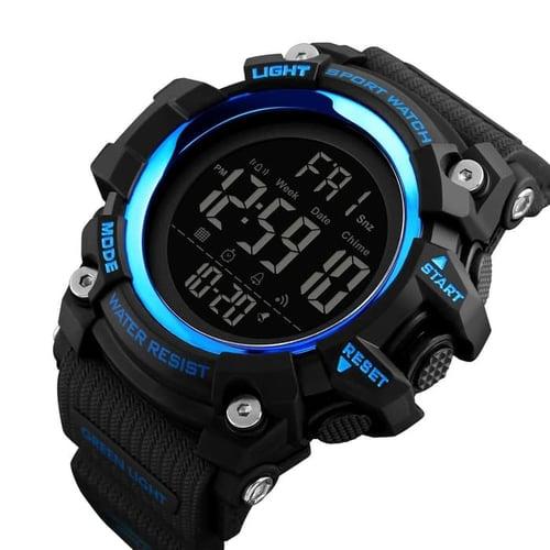 Jam Tangan Pria Digital SKMEI 1384 Blue Water Resistant 50m
