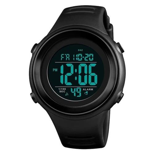 Jam Tangan Pria Digital SKMEI 1394 BLACK/BLACK WaterResistant 50m