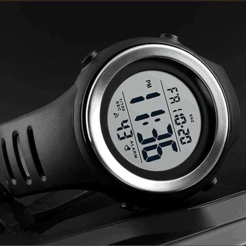 Jam Tangan Pria Digital SKMEI 1394 BLACK/SILVER WaterResistant 50m