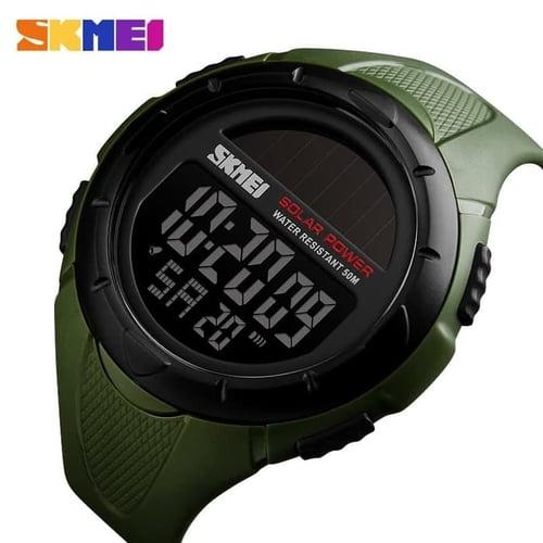 Jam Tangan Pria Digital SKMEI 1405 Army Green Water Resistant 50M