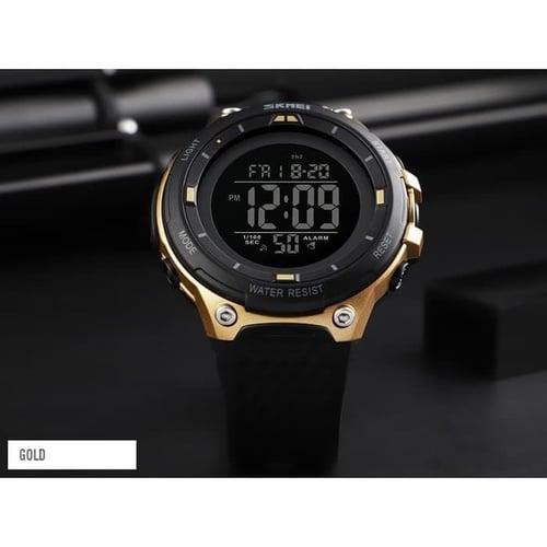 Jam Tangan Pria Digital SKMEI 1441 GOLD Water Resistant 50m