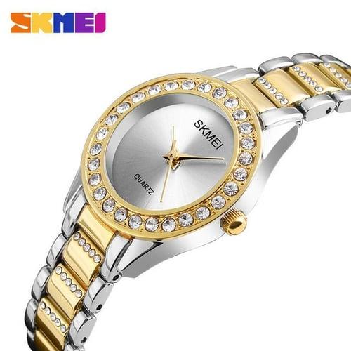 Jam Tangan Wanita Analog SKMEI 1262 Gold Water Resistant 30M