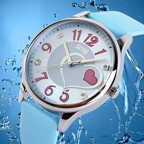 Jam Tangan Wanita Analog SKMEI 9085 Blue Water Resistant 30M