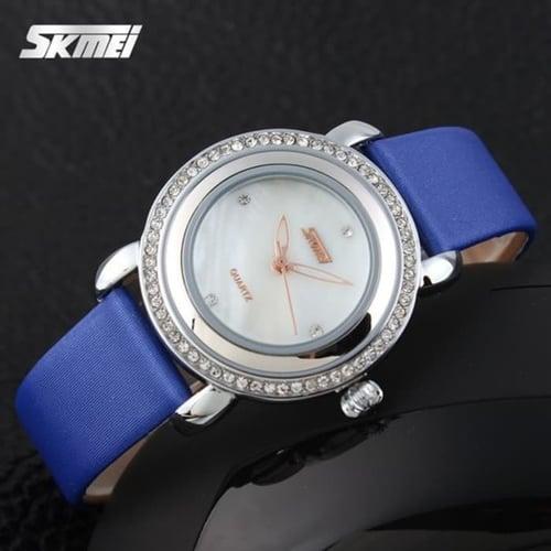 Jam Tangan Wanita Analog SKMEI 9093 Blue Water Resistant 30M