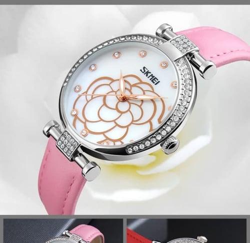 Jam Tangan Wanita Analog SKMEI 9145 Pink Water Resistant 30M