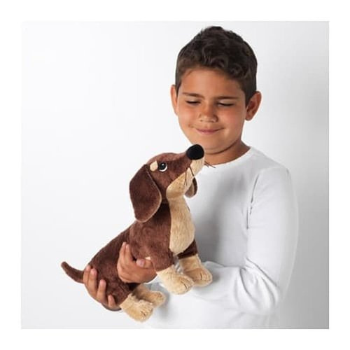 SMASLUG Boneka Anjing Tackle Coklat Soft Toy Doll Dachshund Dog