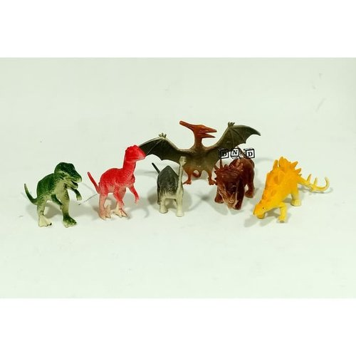 Mainan Anak - Dino World Dinosaur Figure Kecil Set Isi 6Pcs