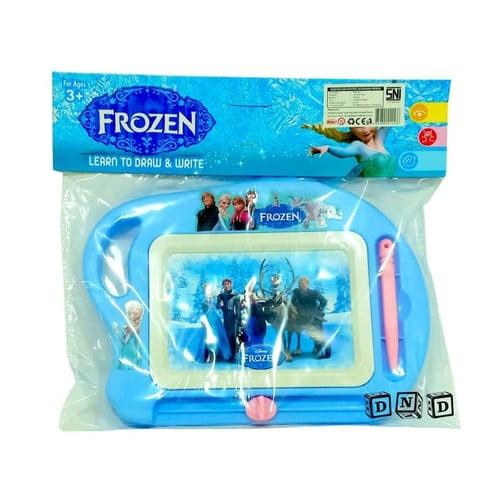 Mainan Edukasi Anak - Magnetic Drawing Board Frozen Biru