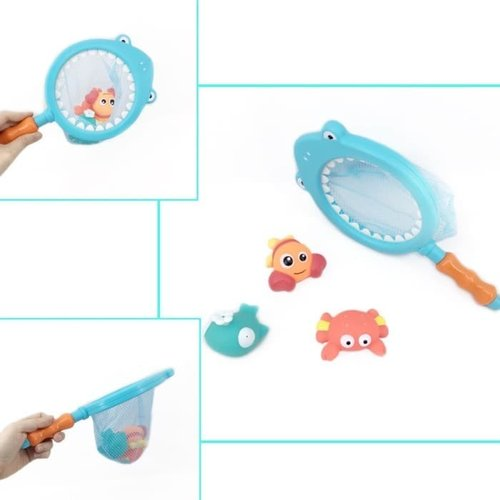 Mainan Anak Bayi - Bath Toys Shark Fishing Game Mandi Ikan Jaring Hiu