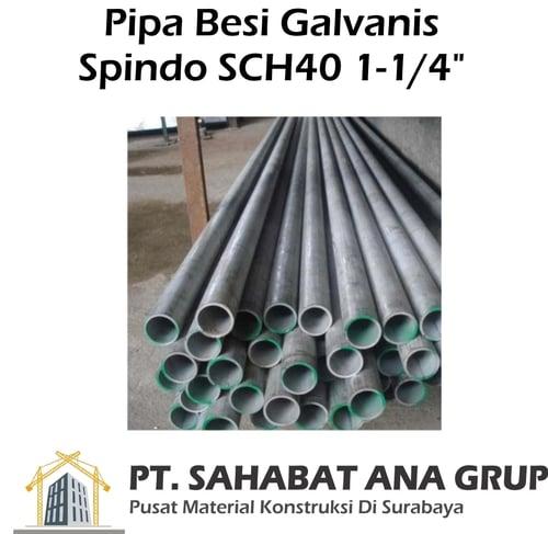 Pipa Galvanis Spindo SCH40 1-1/4 inch