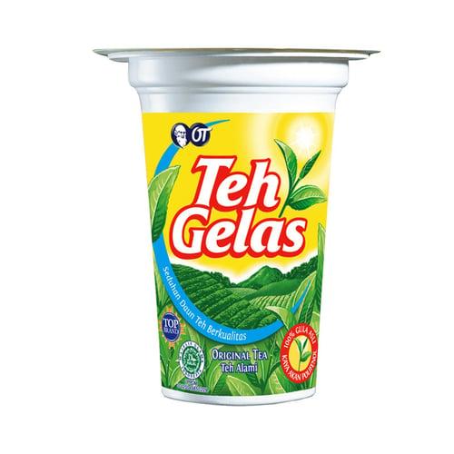 TEH GELAS Original Cup Minuman Teh Instant 180 ml 1 Karton