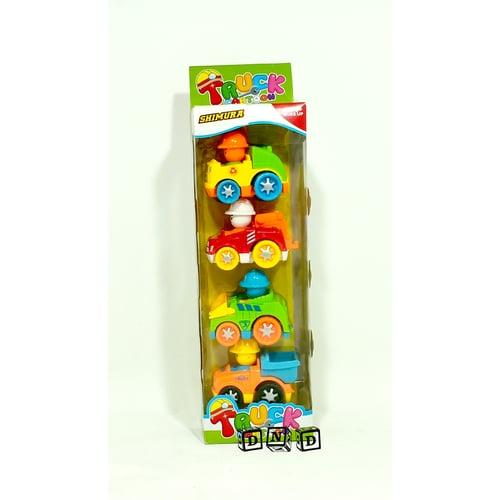 Mainan Anak - Truck Cartoon 4 in 1 Car Mobil Konstruksi 998-32D1