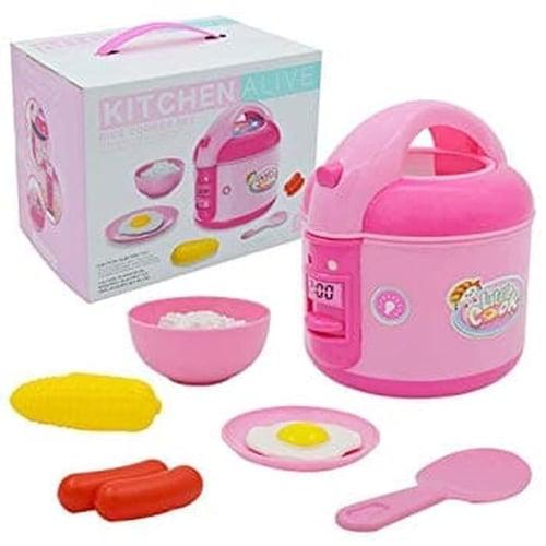 Mainan Anak - Kitchen Set Little Cooking Rice Cooker Mesin Mask Nasi