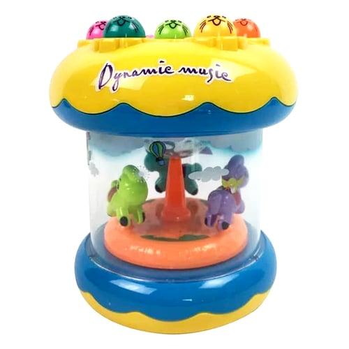 Mainan Edukasi Anak - Music Game Hamster Playing Carousel Hammer Palu
