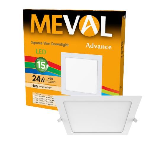 Meval LED Slim Downlight 24W - Square - Putih
