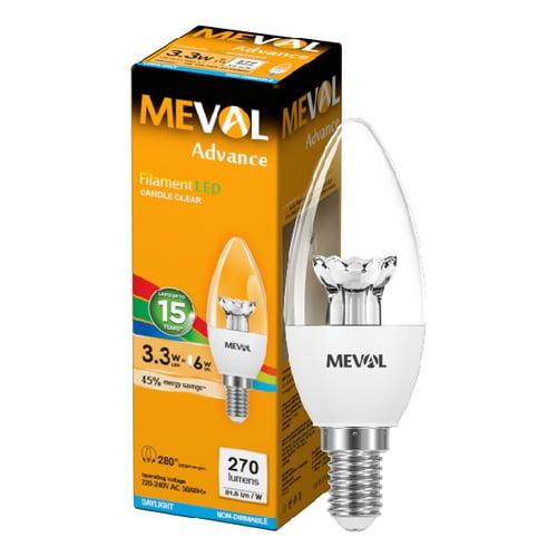 Meval LED Candle 3.3W - E14 - Putih