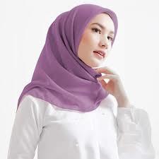 hijab bella square lavender